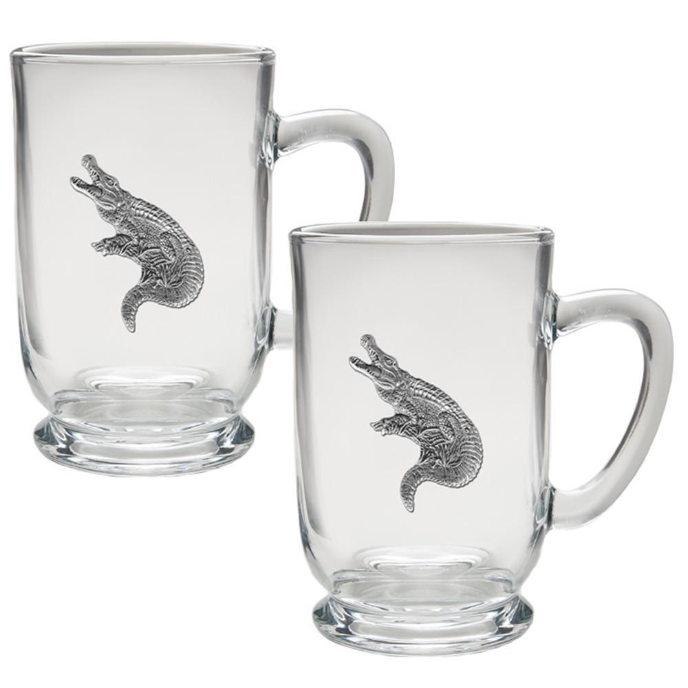 Alligator Coffee Mug Set of 2   Heritage Pewter   HPICM3770CL