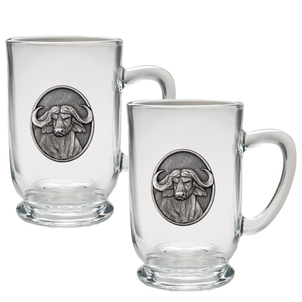 Cape Buffalo Coffee Mug Set of 2 | Heritage Pewter | HPICM239CL