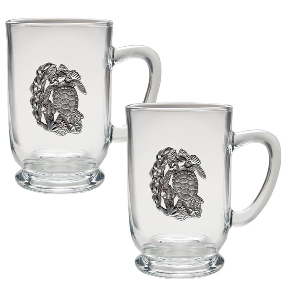 Sea Turtle Coffee Mug Set of 2 | Heritage Pewter | HPICM4146CL