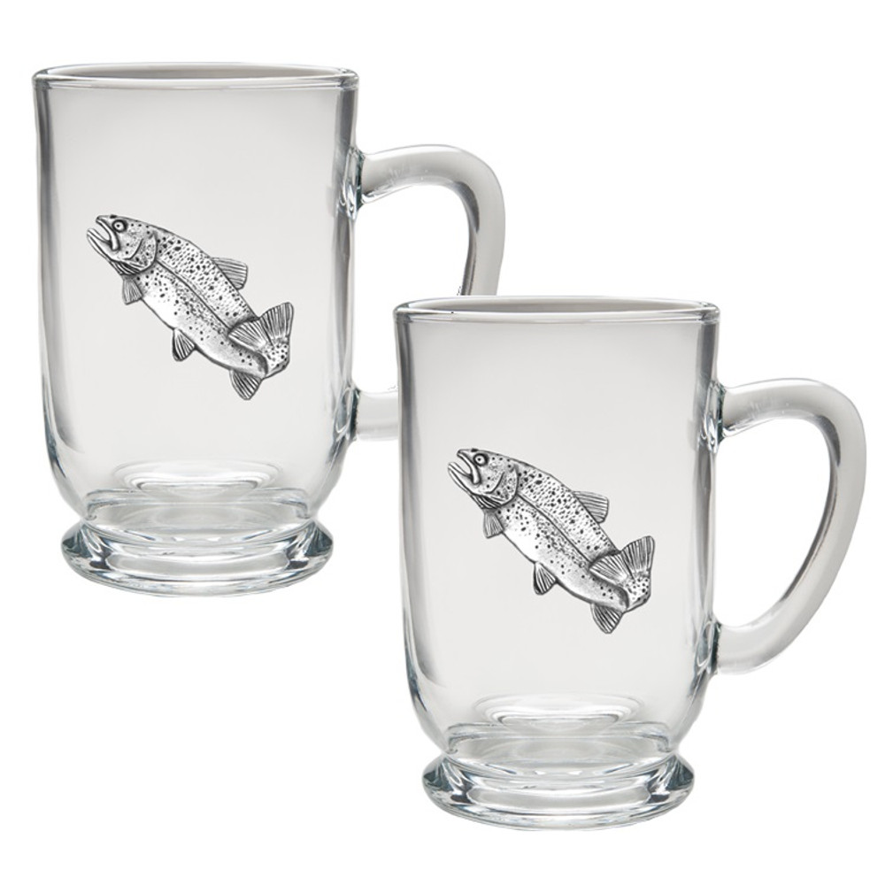 Trout Coffee Mug Set of 2   Heritage Pewter   HPICM4034CL