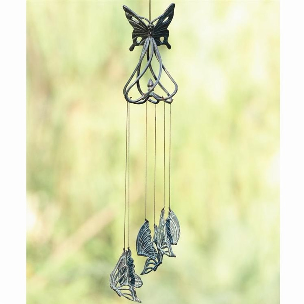 Stylized Butterfly Wind Chime   50476   SPI Home
