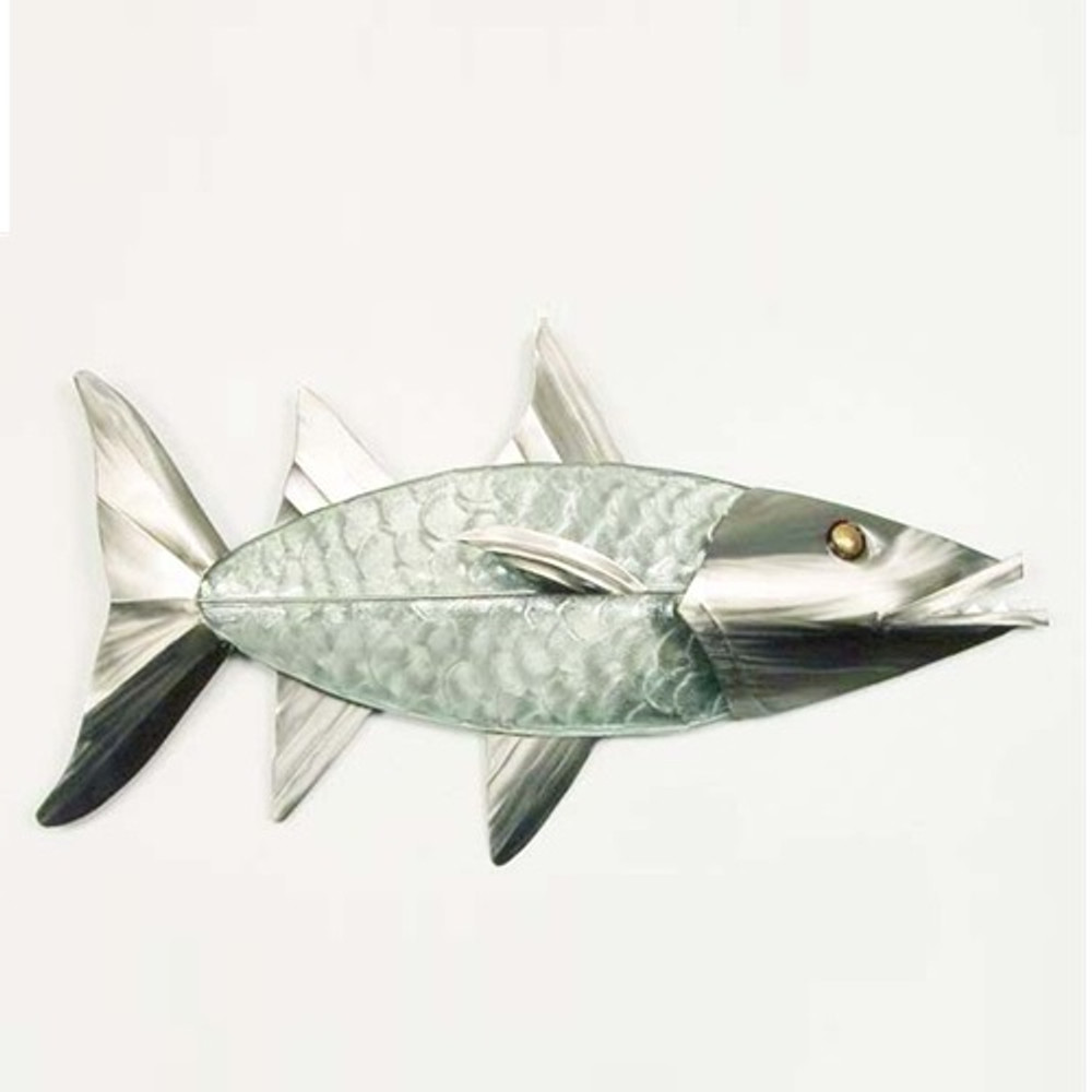 Barracuda Glass and Stainless Wall Sculpture | TI Design | G022