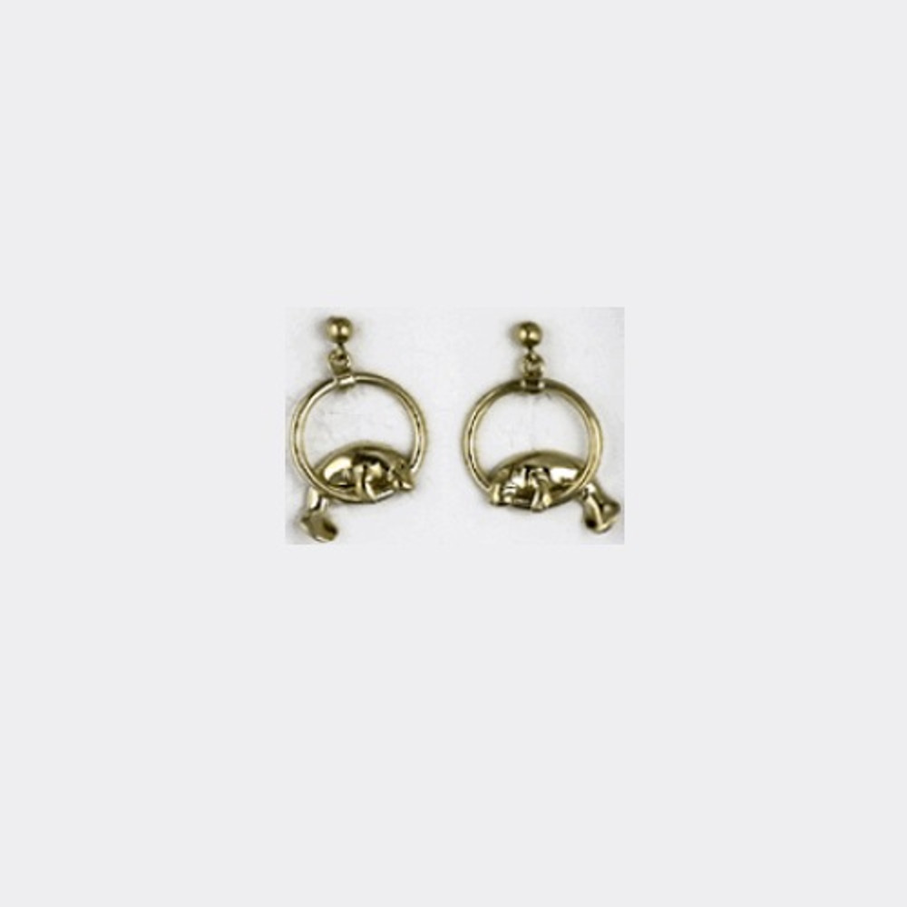 Manatee Hoop 14K Gold Post Earrings   Kabana Jewelry   GE525