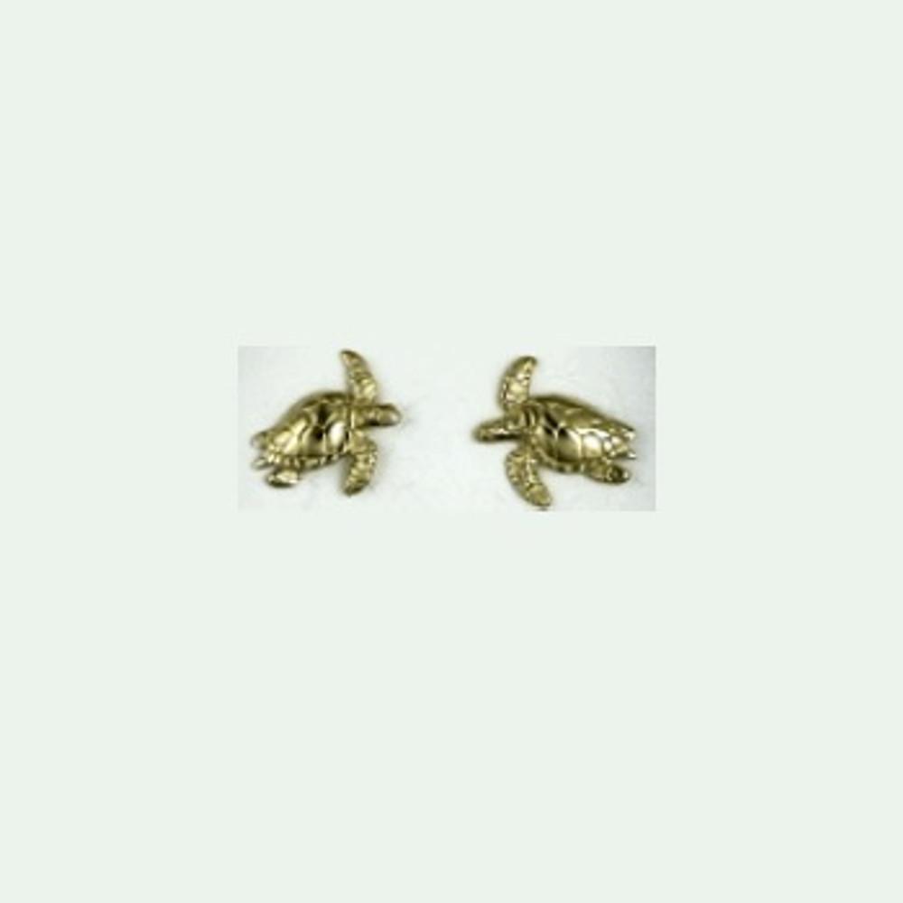Turtle 14K Gold Post Earrings   Kabana Jewelry   GE647 -2