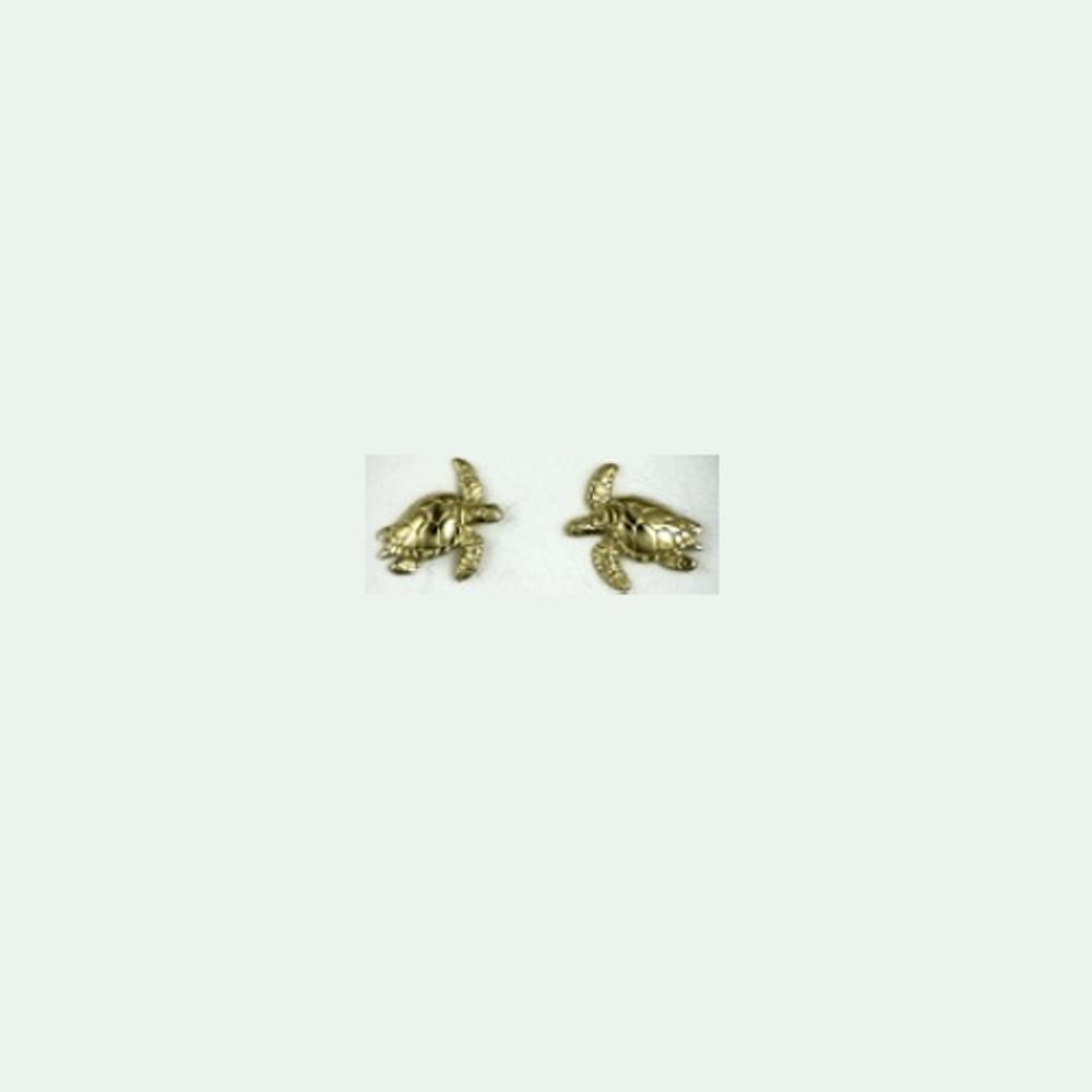 Turtle 14K Gold Post Earrings   Kabana Jewelry   GE647