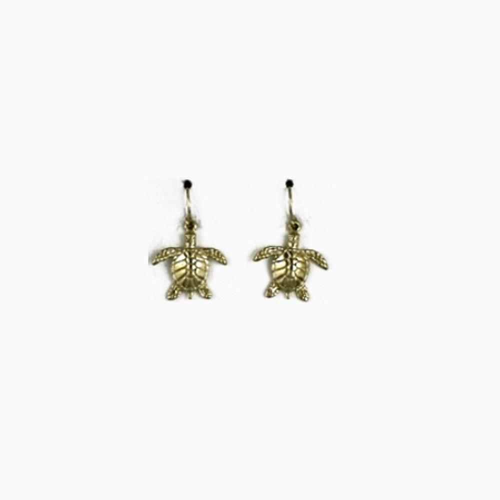 Turtle 14K Gold Wire Earrings   Kabana Jewelry   GE771