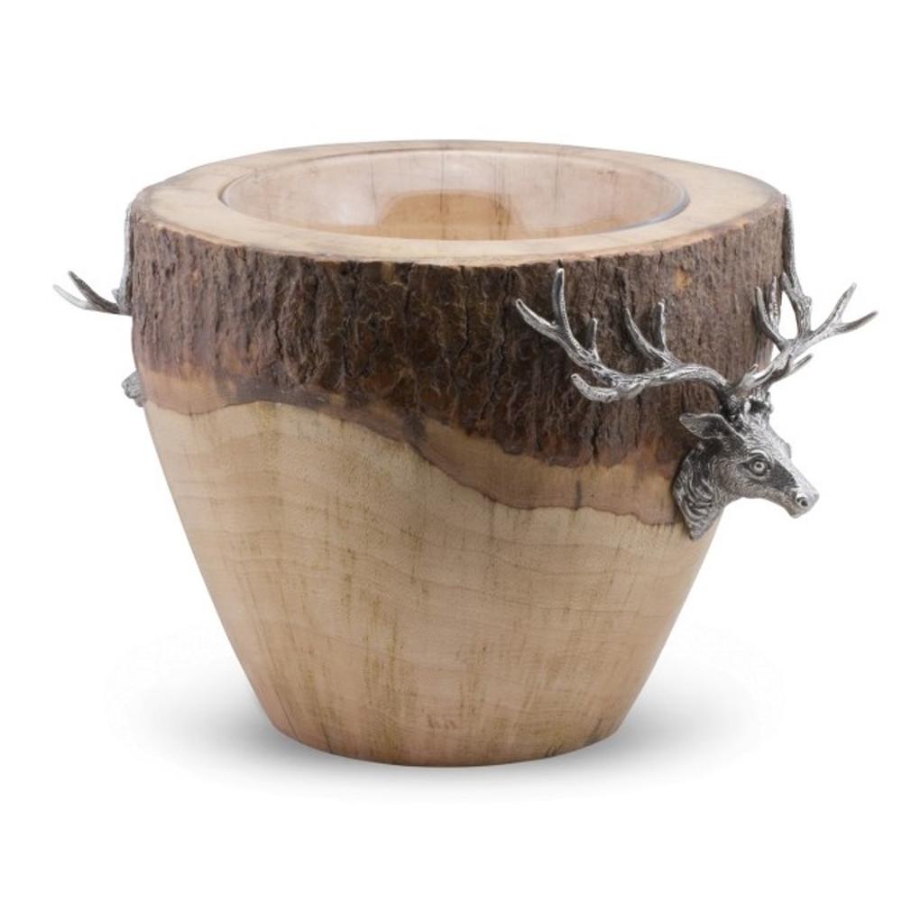 Elk Natural Log Ice Bucket | Vagabond House | B403EK -2