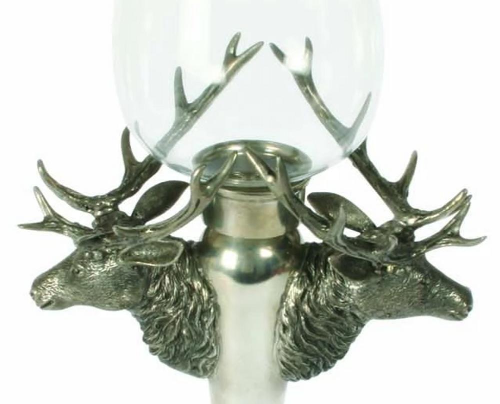 Stag Head Hurricane Candle Holder | Vagabond House | B101H