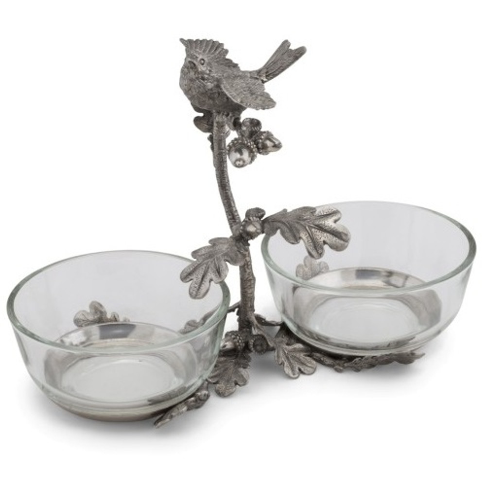 Song Bird Double Condiment Bowl | Vagabond House | K415S