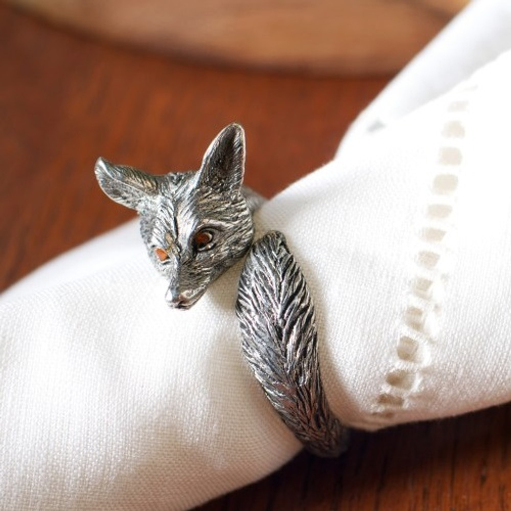 Fox Napkin Ring Set of Four | Vagabond House | B1150-4
