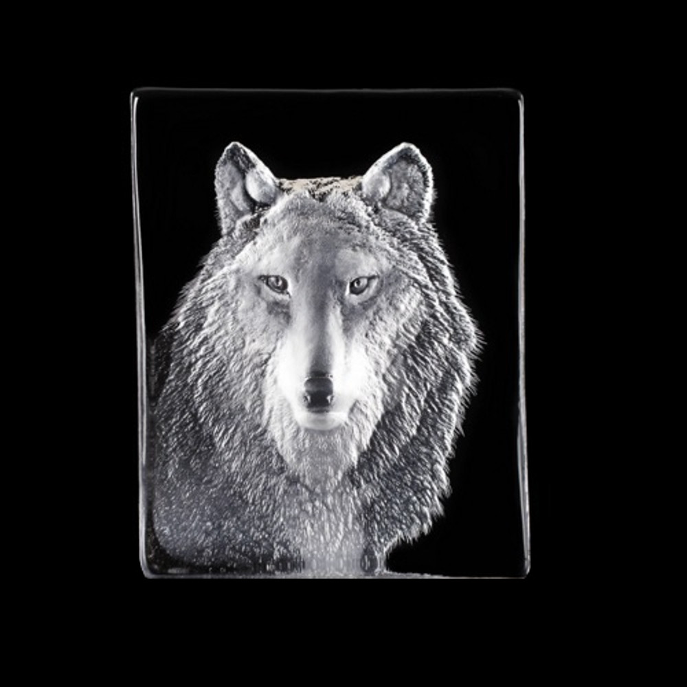 Wolf Crystal Sculpture | 34124 | Mats Jonasson Maleras