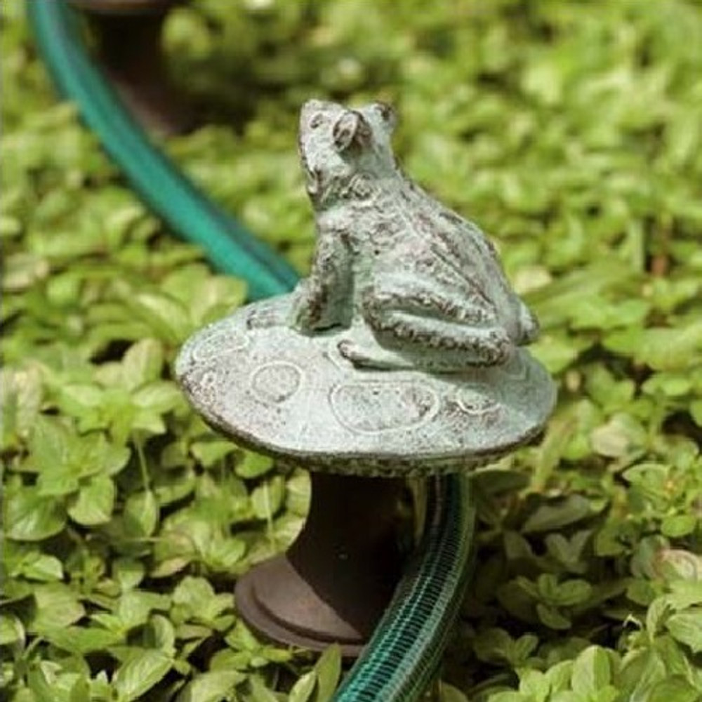Frog on a Mushroom Hose Guard | 33146 | SPI Home