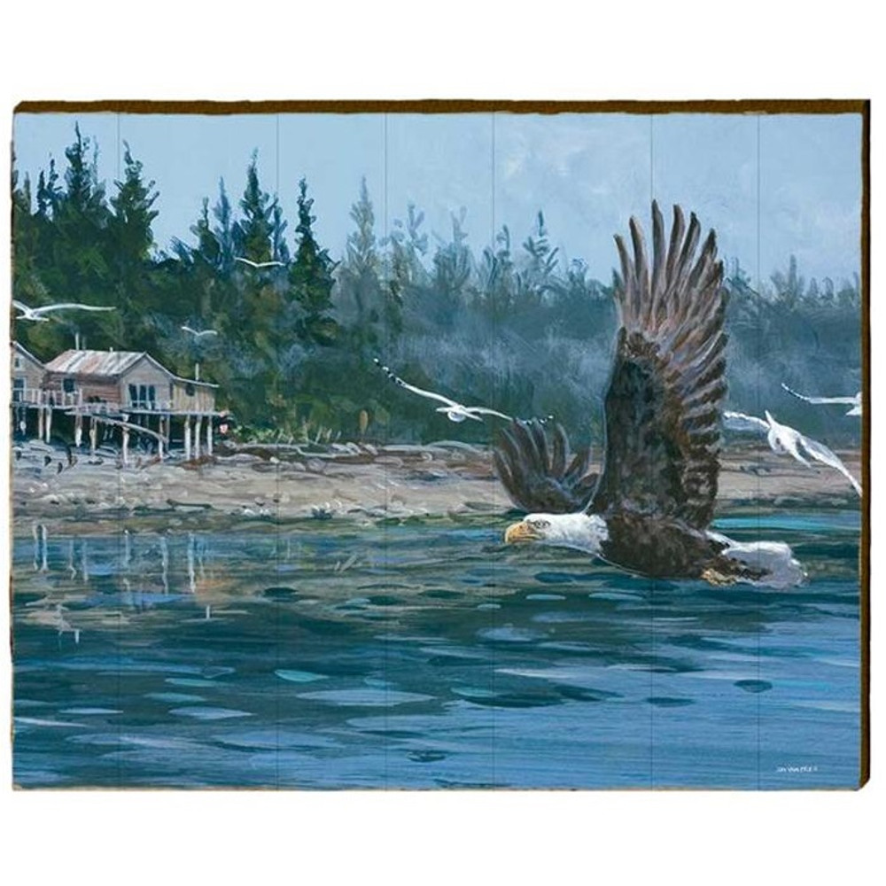Eagle Wood Wall Art 30x24  | Mill Wood Art | ZSOR1-30x24