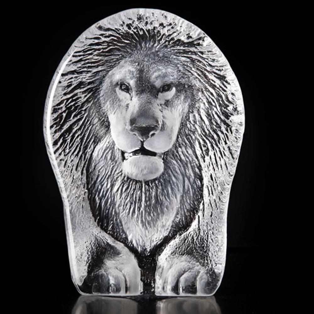 Lion Crystal Sculpture | 34189 | Mats Jonasson Maleras