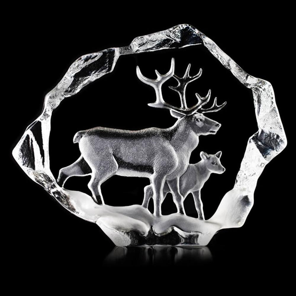 Reindeer Ltd Ed Crystal Sculpture | 34151 | Mats Jonasson Maleras