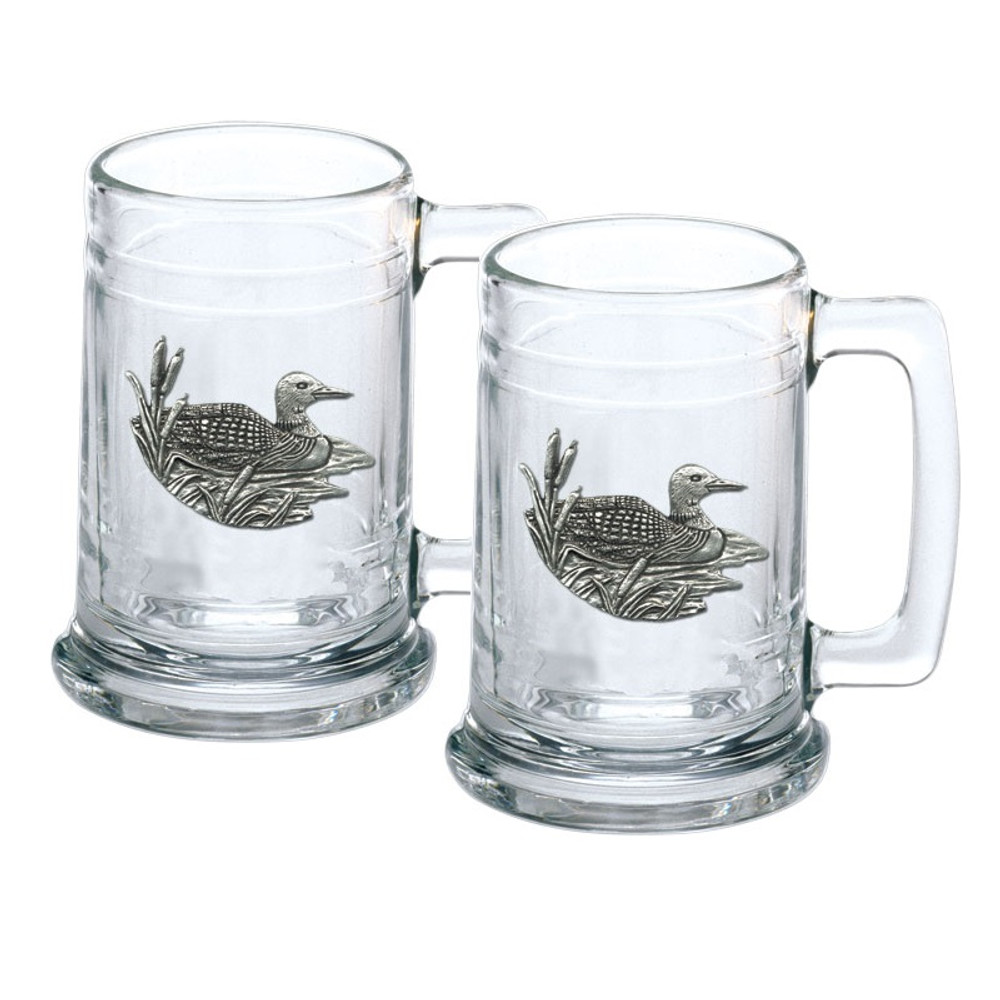 Loon Stein Set of 2 | Heritage Pewter | ST4074