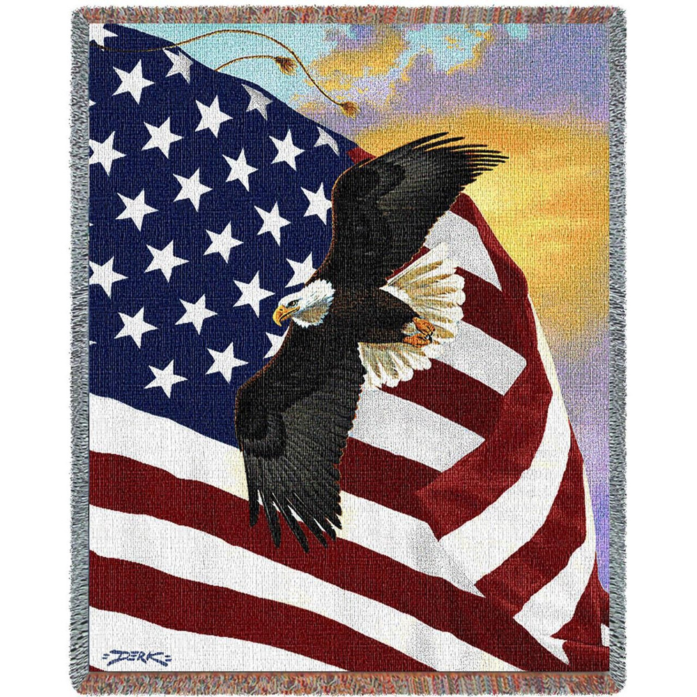"""Eagle Tapestry Throw Blanket """"Majestic Eagle"""" 