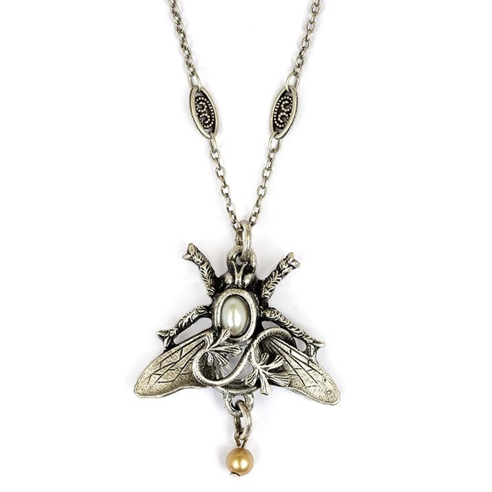 Bee and Vine Pendant Necklace | La Contessa Jewelry | Mary DeMarco | LCNK9301LC