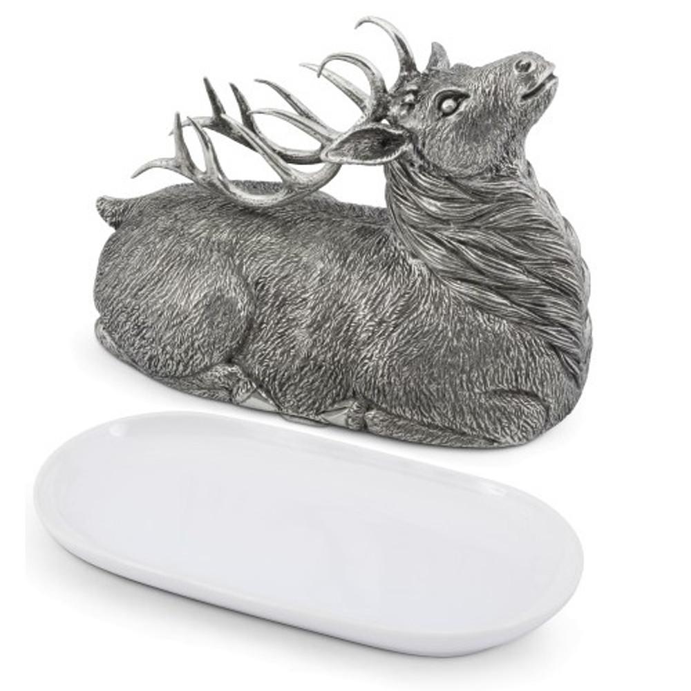 Elk Butter Dish | Vagabond House | B108E