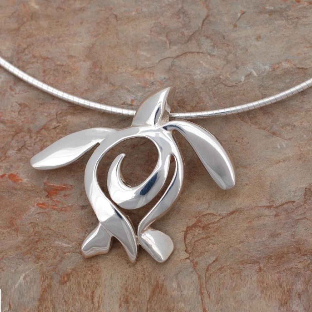 "Sea Turtle Pendant Necklace ""Ocean Traveler"" | Big Blue Jewelry | BC11-18"