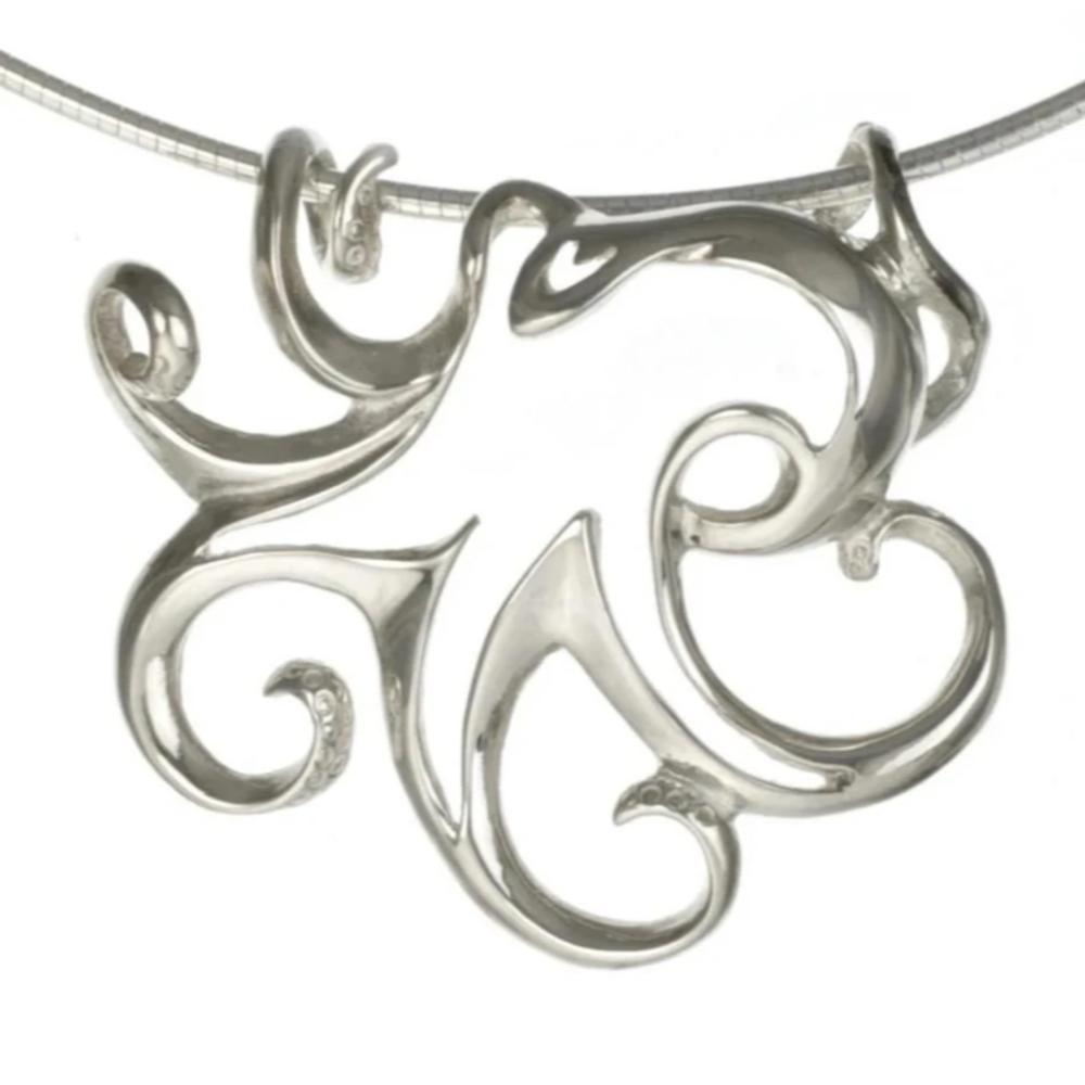 Octopus Pendant Necklace | Big Blue Jewelry | Roland St. John | OCTSS-18