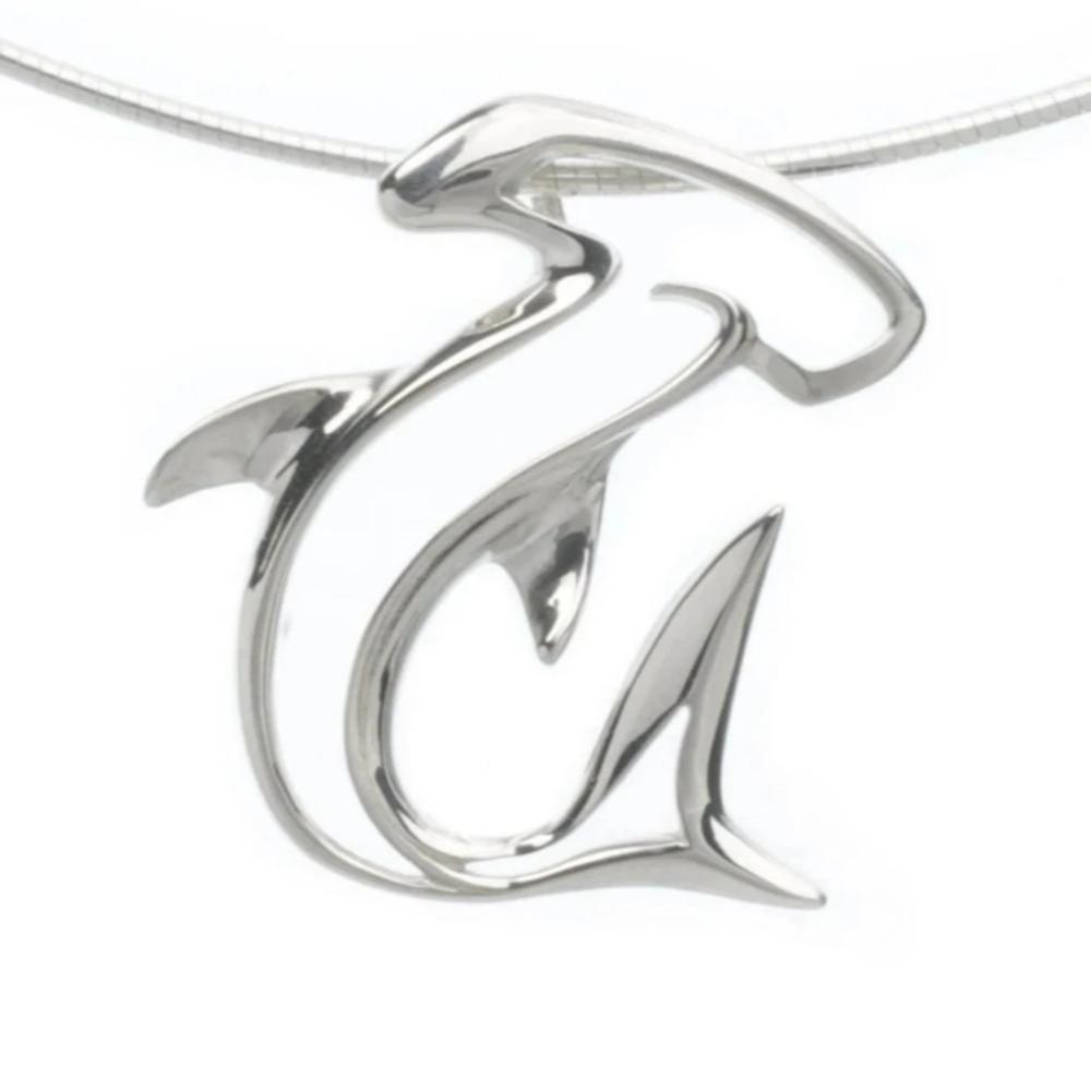 Hammerhead Shark Seaplicity Necklace   Big Blue Jewelry   HHSS-18