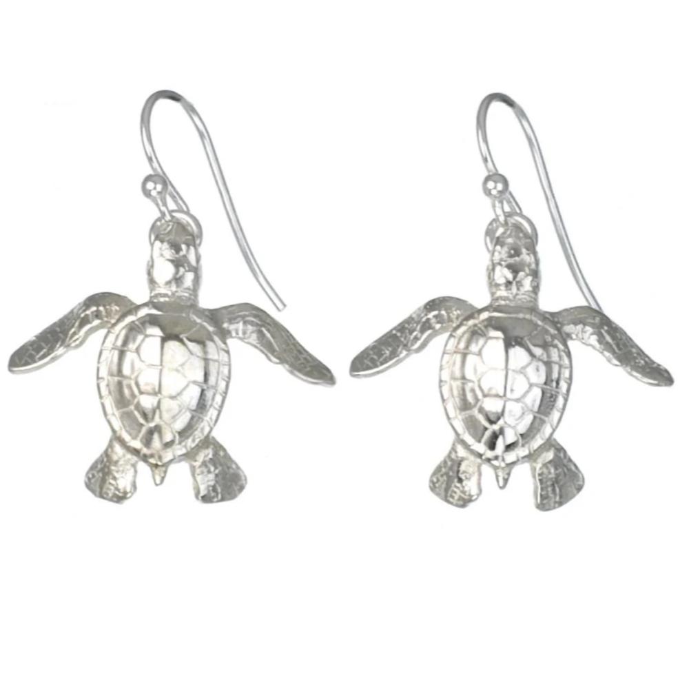 Sea Turtle Earrings | Big Blue Jewelry | Roland St. John | SSE07D