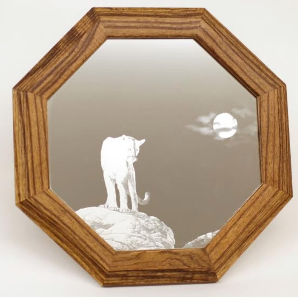 "Cougar Oak Mirror ""Midnight Watch""   MV-FG-005"