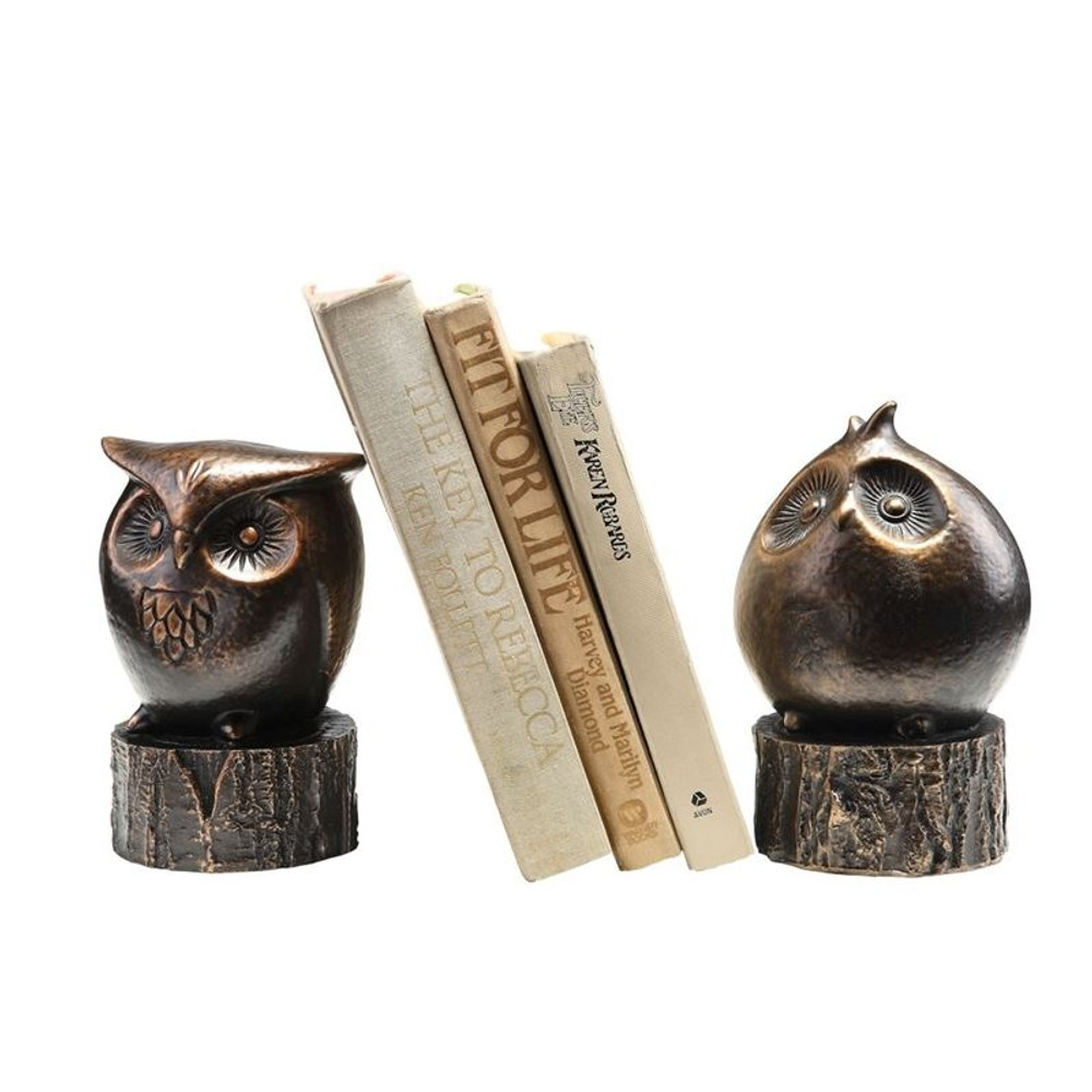 Wide-Eyed Owl Bookends | 50692 | SPI Home