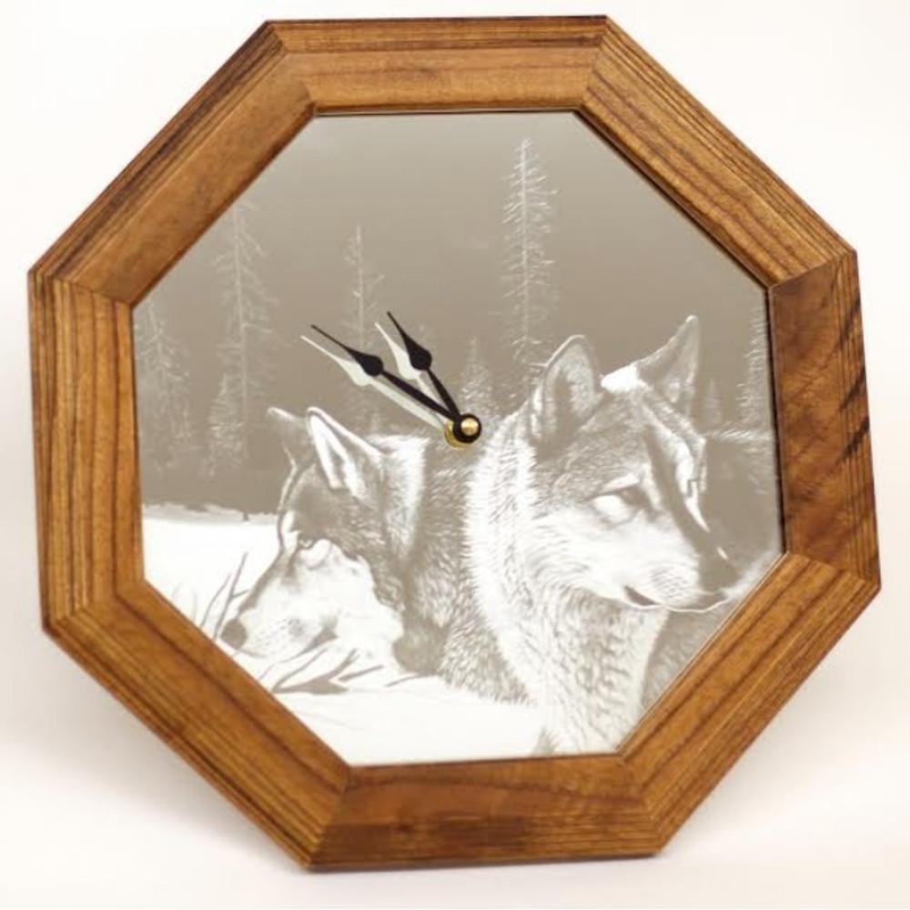 "Wolves Oak Clock ""Blue Morning Trackers"" | MV-FG-001"