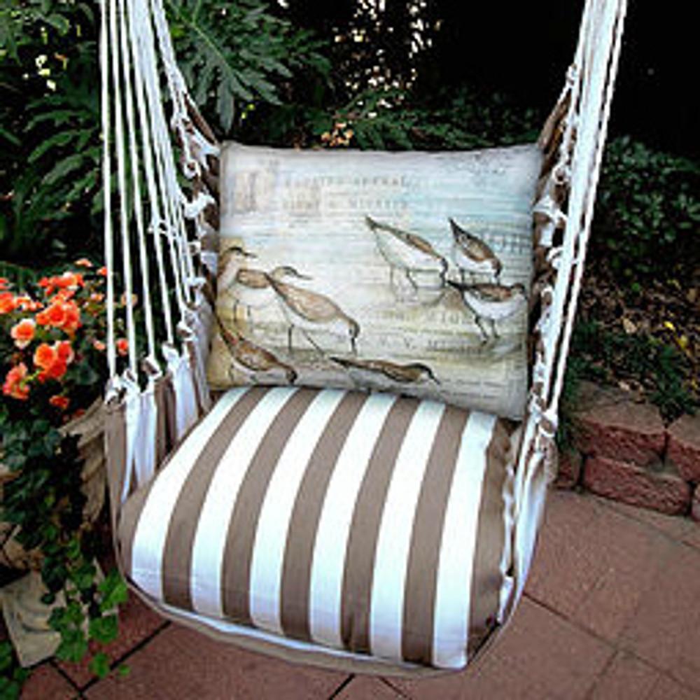"Sea Bird Hammock Chair Swing ""Striped Chocolate"" | Magnolia Casual | SCWSB-SP -2"