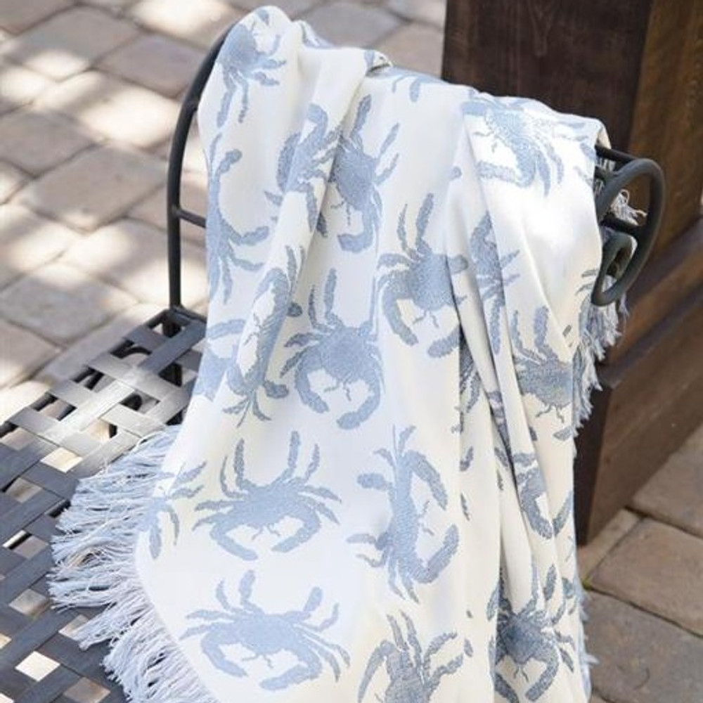 Blue Crab Throw Blanket | Manual Woodworkers | MWWATRBCB