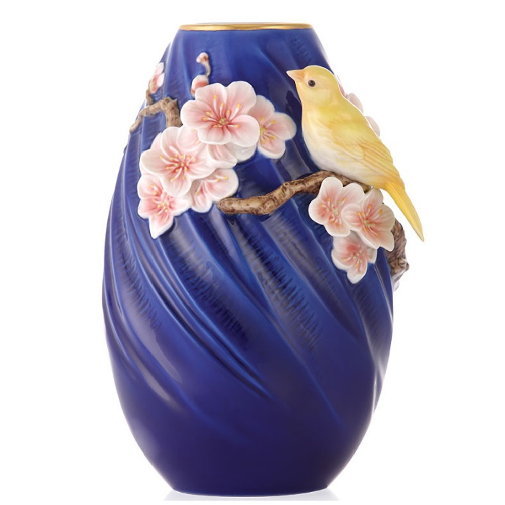 Canary Sculptured Porcelain Vase | FZ03381 | Franz Collection