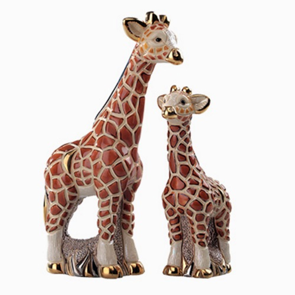 Giraffe and Baby Ceramic Figurine Set | De Rosa | Rinconada | F142-F342