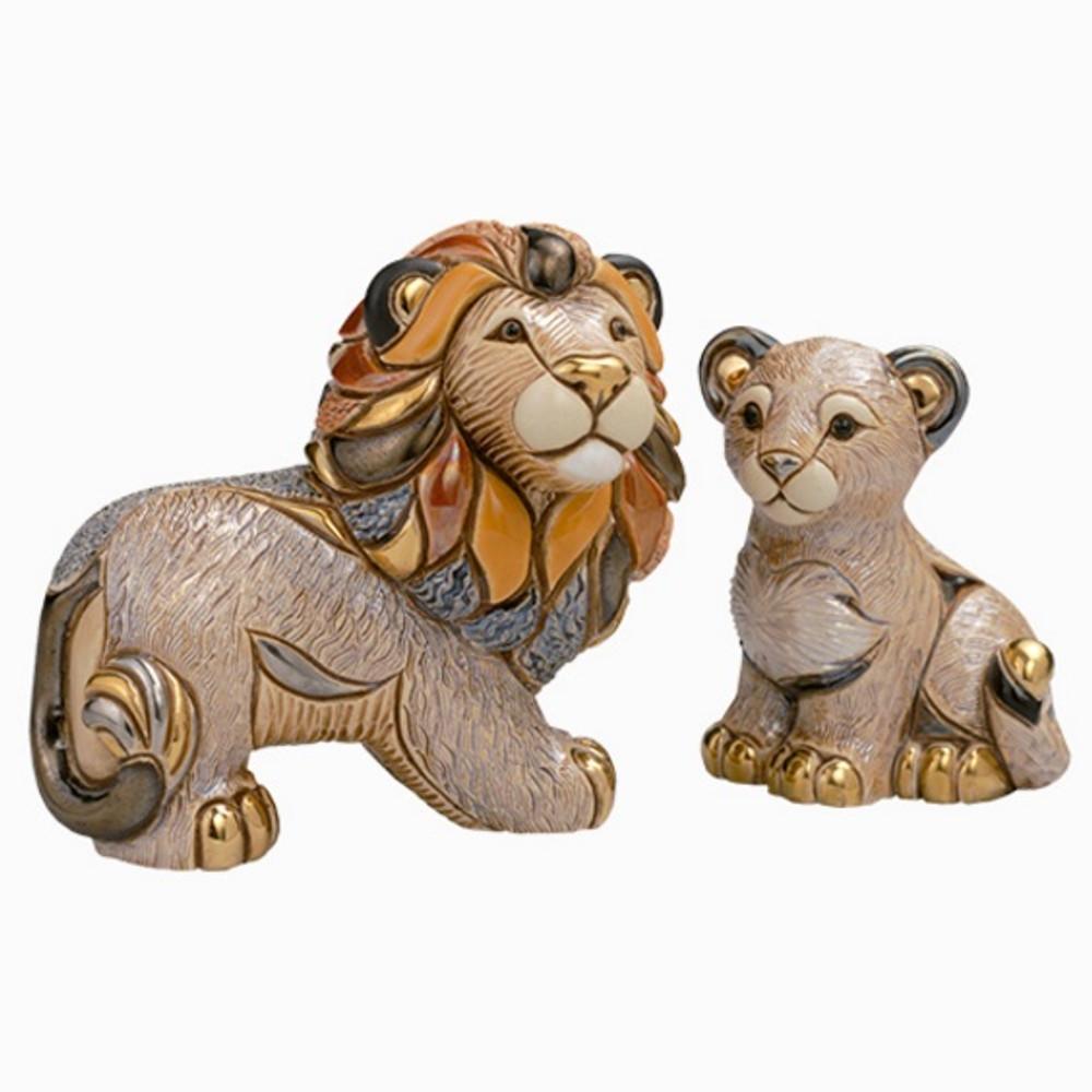 Lion and Cub Ceramic Figurine Set | De Rosa | Rinconada | F113-F316