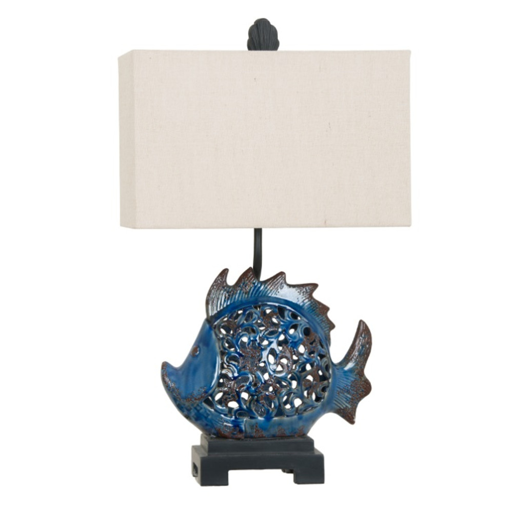Fish Table Lamp | Crestview Collection | CVAP1972