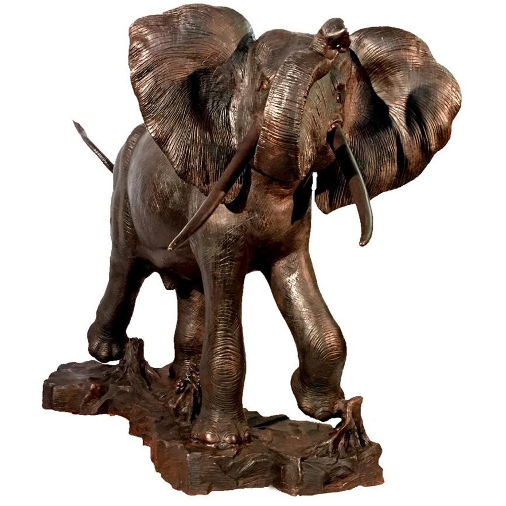 Elephant Bronze Outdoor Statue | Metropolitan Galleries | SRB15041