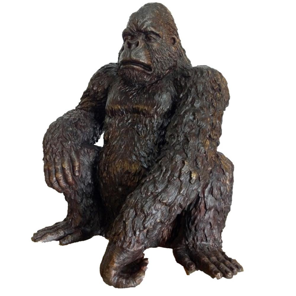 Art Gorilla Bronze Figurine
