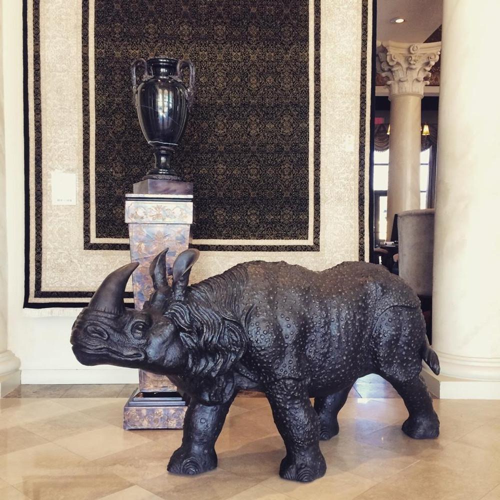 Rhinoceros Bronze Outdoor Statue | Metropolitan Galleries | SRB15038 -2