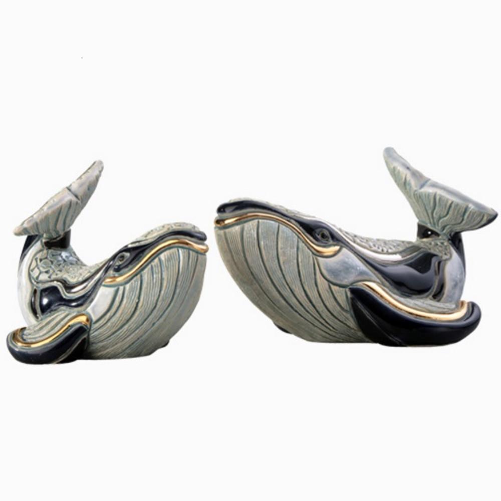 Humpback Whale and Baby Ceramic Figurine Set | De Rosa | Rinconada | F147-F347