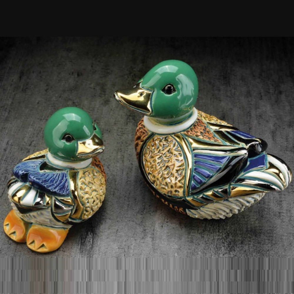 Mallard Duck and Baby Ceramic Figurine Set | De Rosa | Rinconada | F200-F400