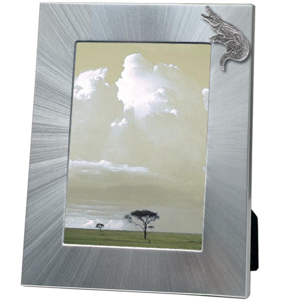 Alligator 5x7 Photo Frame | Heritage Pewter | HPIFR3161LG