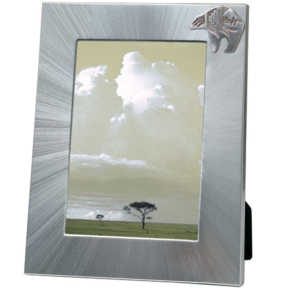 Bear Tribal 5x7 Photo Frame | Heritage Pewter | HPIFR3060LG