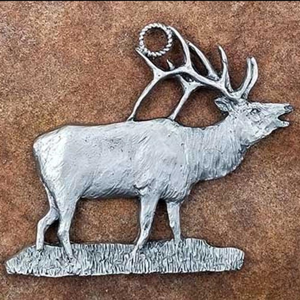 Elk Pewter Ornament   Andy Schumann   SCHMC122174