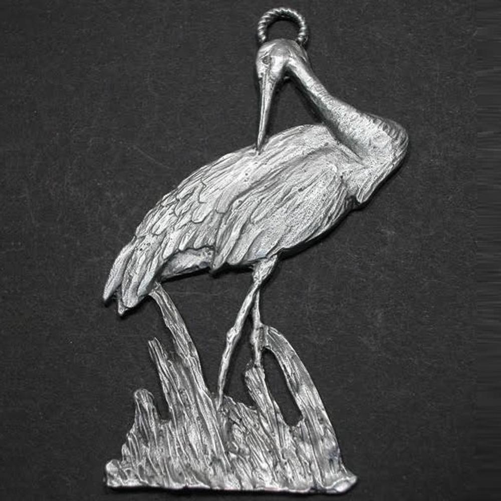 Sandhill Crane Pewter Ornament | Andy Schumann | SCHMC122160