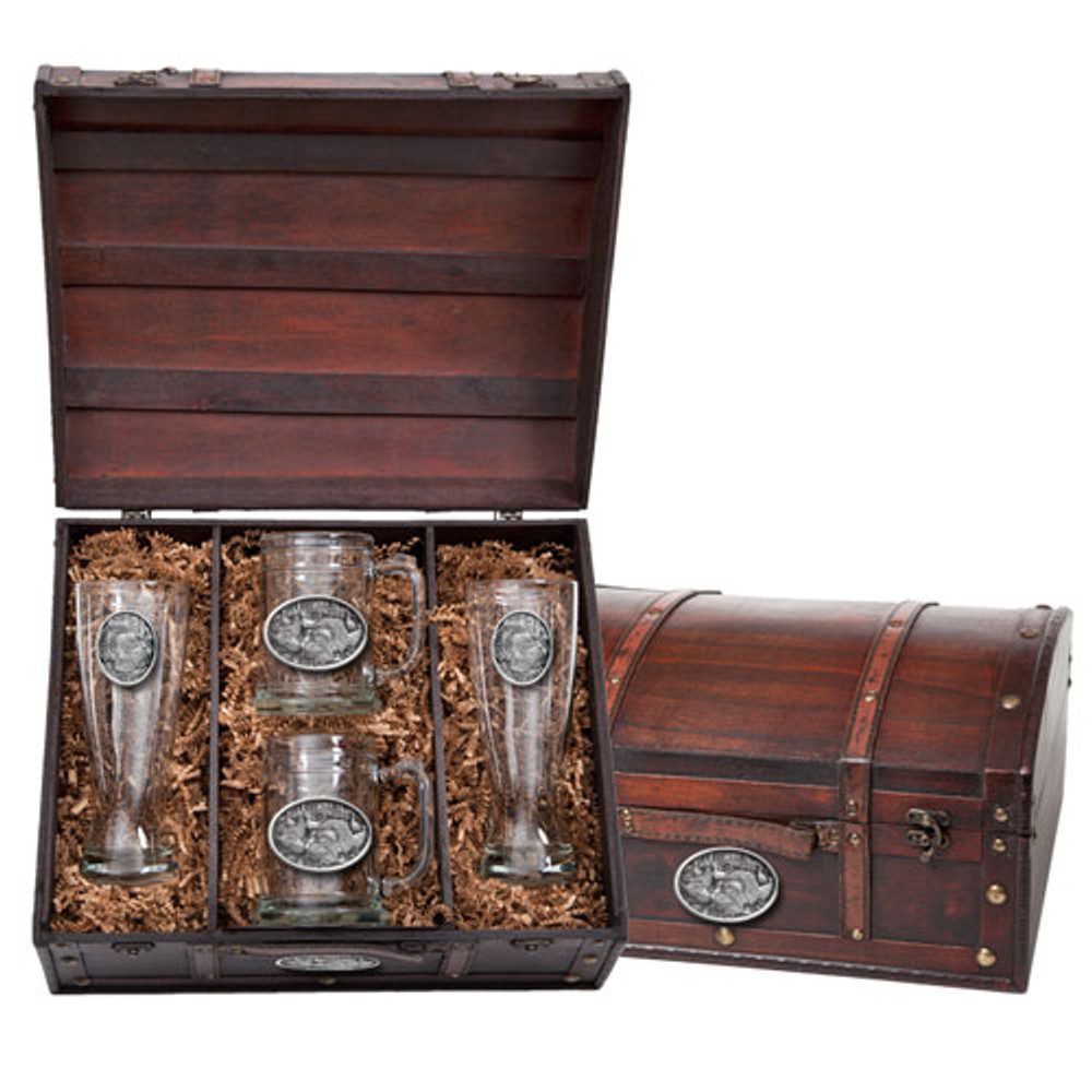 Turkey Beer Glass Chest Set | Heritage Pewter | HPIBCS124