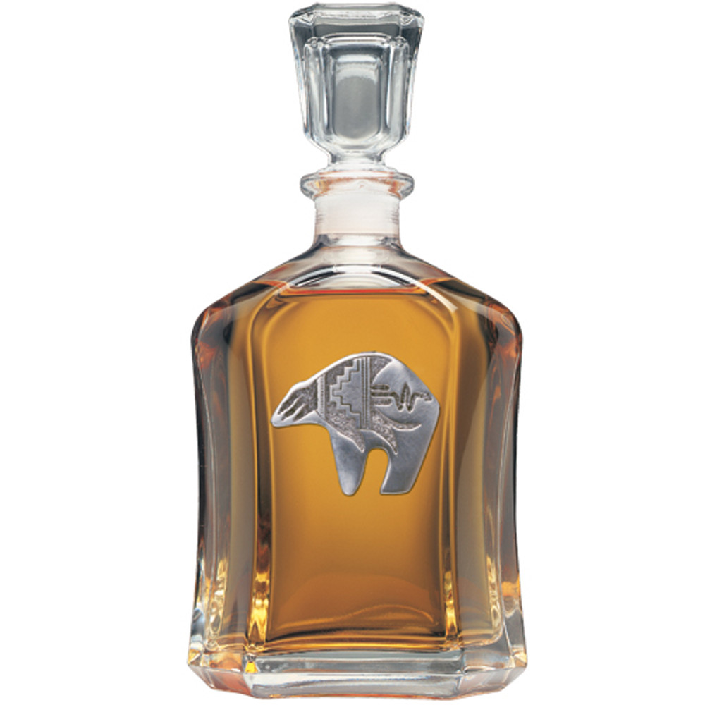Bear Tribal Capitol Decanter | Heritage Pewter | HPICPT3999