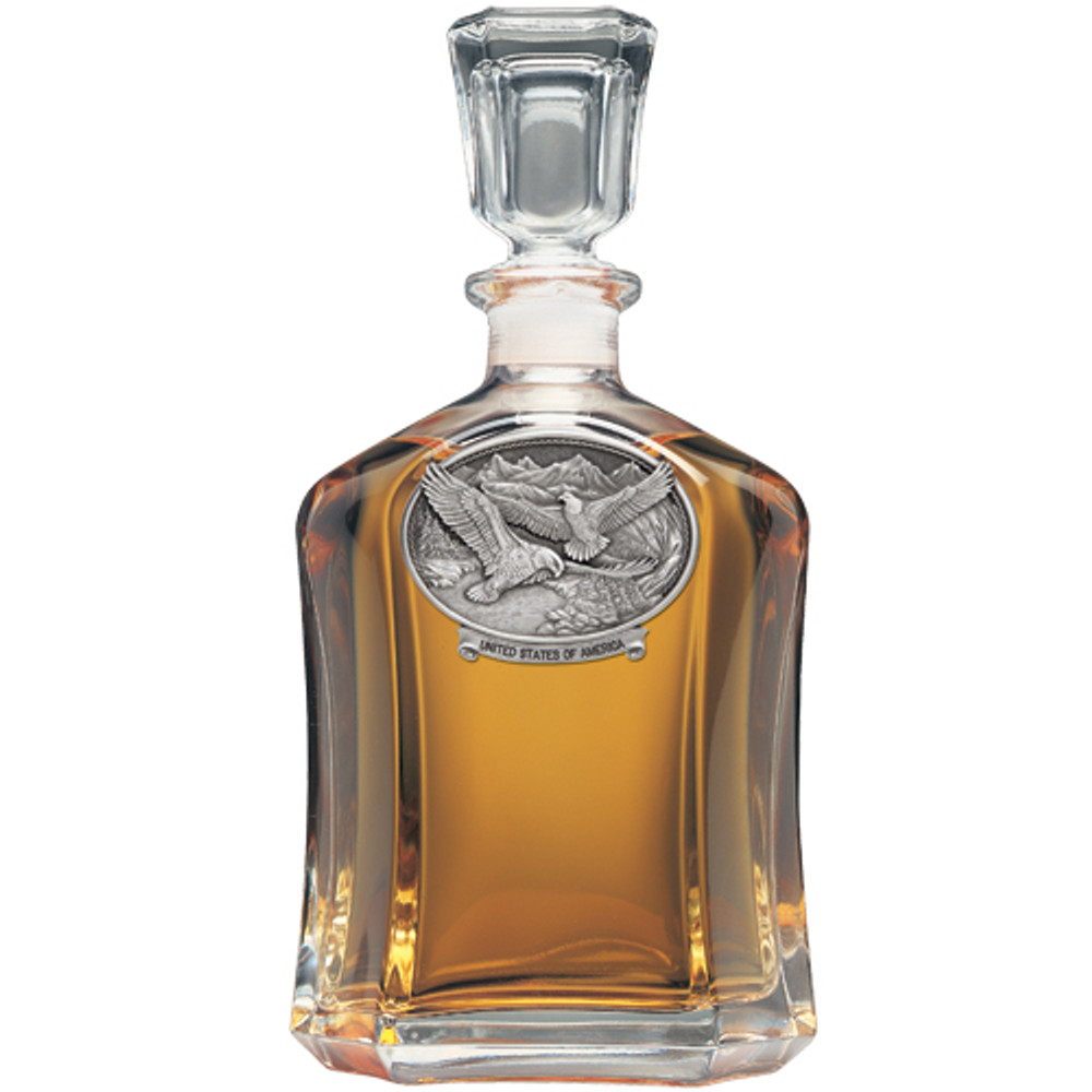 Bald Eagle USA Capitol Decanter | Heritage Pewter | HPICPT109USA