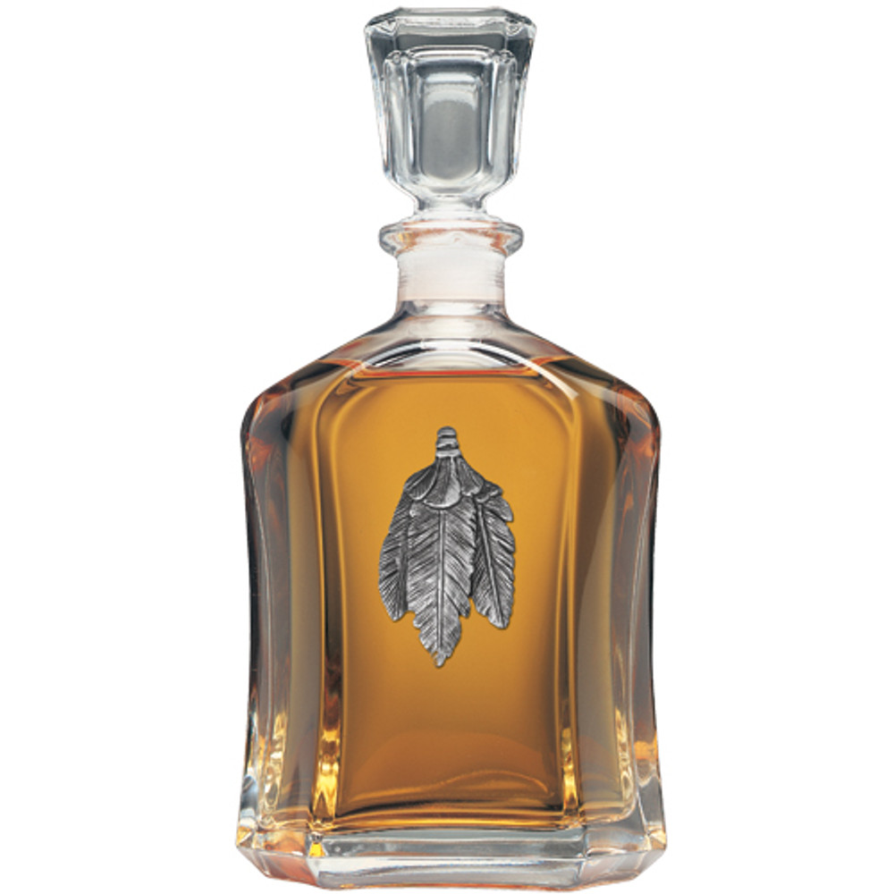 Bird Feathers Capitol Decanter | Heritage Pewter | HPICPT4001