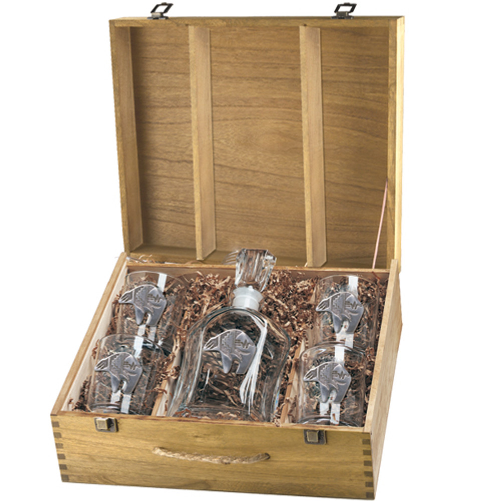 Bear Tribal Capitol Decanter Boxed Set | Heritage Pewter | HPICPTB3999